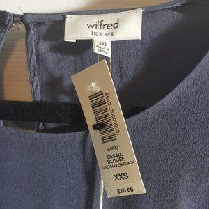 Wilfred Tops - ARITZIA Wilfred 100% Silk Blouse, NWT, XXS